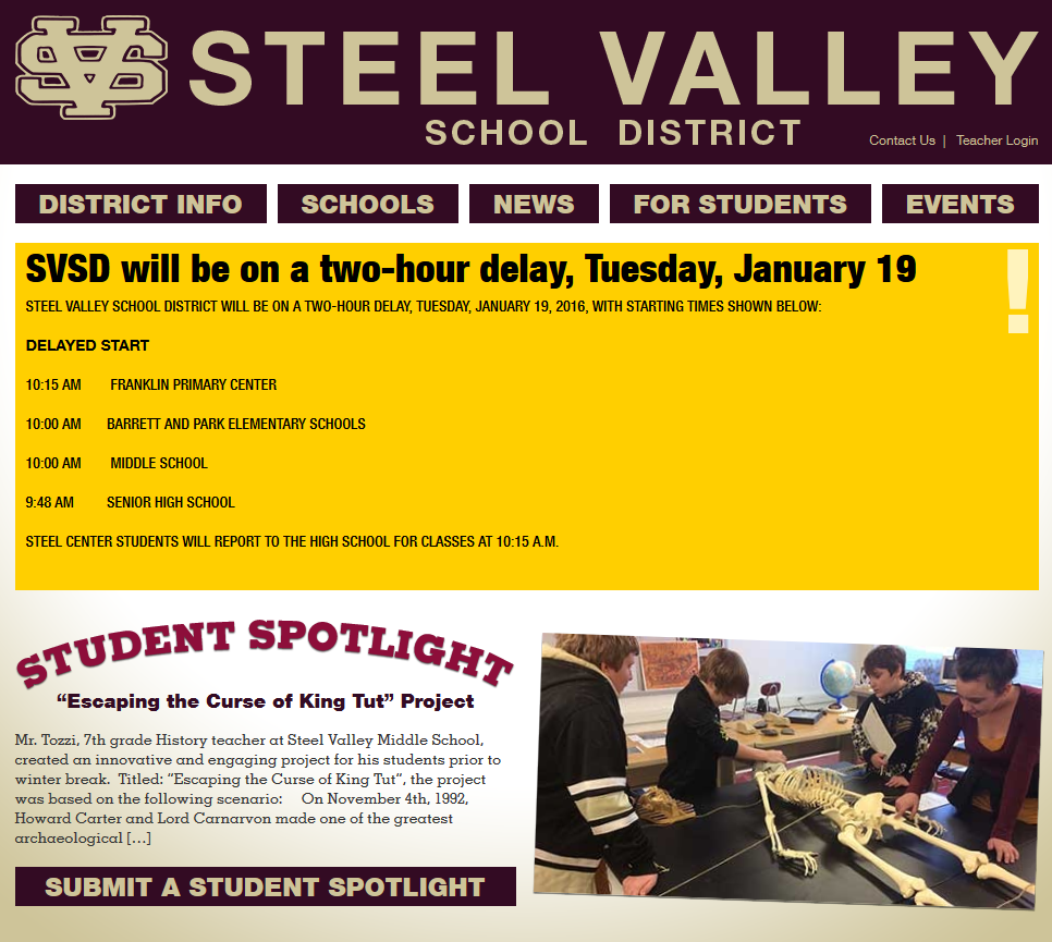 The Steel Valley School District